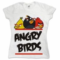 Футболка женская Angry Birds White