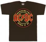 Футболка AC/DC - AUSTRALIA-EST-1973 коричневая