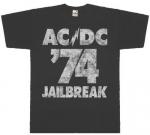 Футболка AC/DC - Jailbreak серая