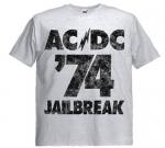 Футболка AC/DC - Jailbreak пепельная