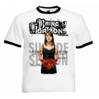 Футболка Bring Me The Horizon - Suicide Season Ringer белая