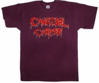 Футболка Cannibal Corpse Logo бордовая
