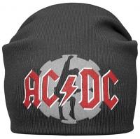 Шапка - бини AC-DC серая