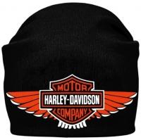 Шапка - бини HARLEY DAVIDSON Wings черная