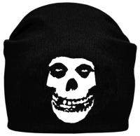 Шапка - бини MISFITS Skull черная