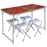 Стол пикник, 4 стула, 120х60 см